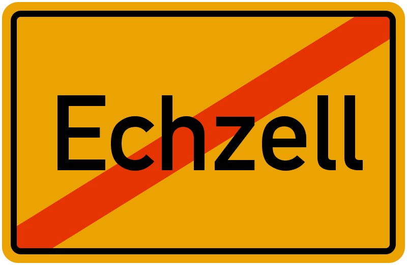 Ortsschild Echzell