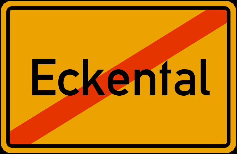 Ortsschild Eckental