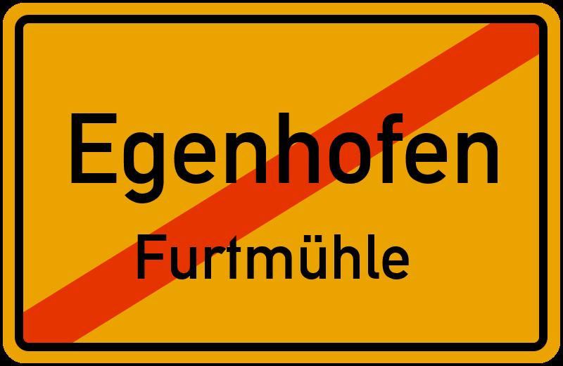 Ortsschild Egenhofen