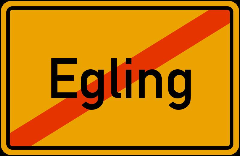 Ortsschild Egling