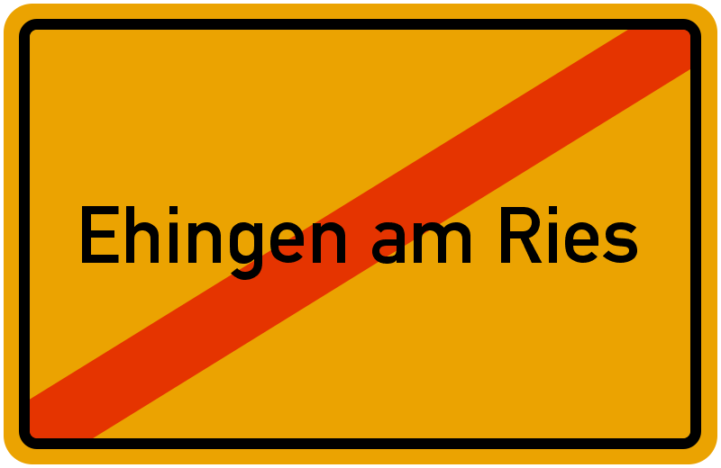 Ortsschild Ehingen am Ries