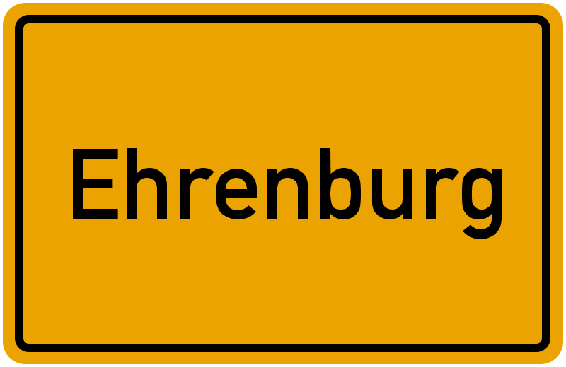 Ortsschild Ehrenburg