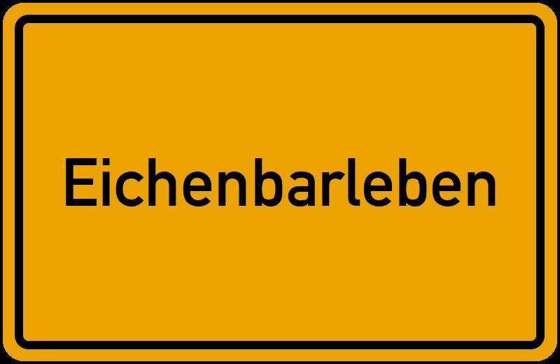 Ortsschild Eichenbarleben
