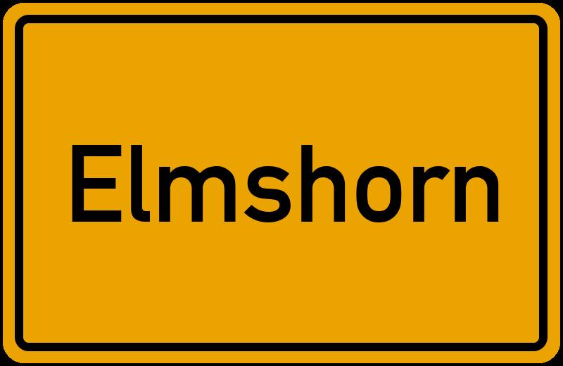 Ortsschild Elmshorn