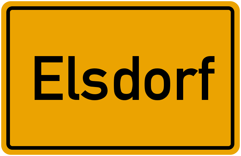 Ortsschild Elsdorf