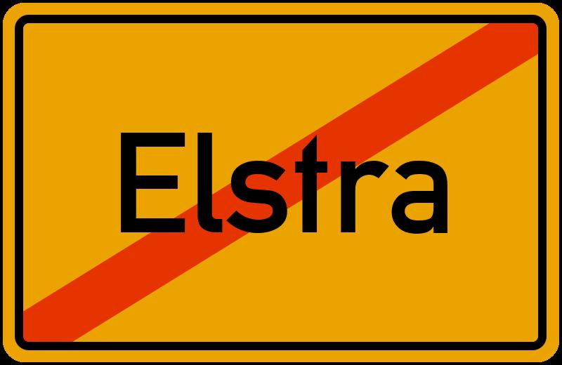 Ortsschild Elstra