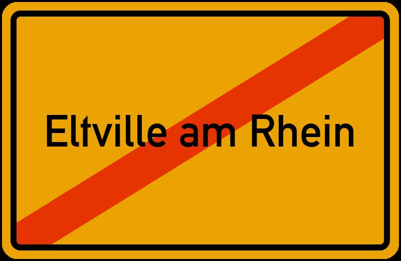 Ortsschild Eltville am Rhein