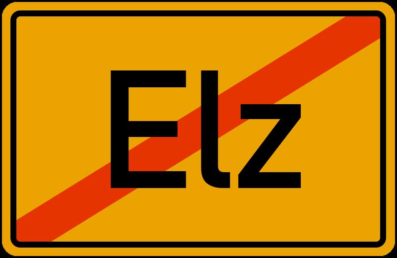 Ortsschild Elz