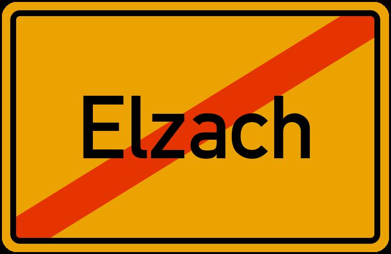 Ortsschild Elzach