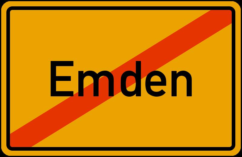 Ortsschild Emden