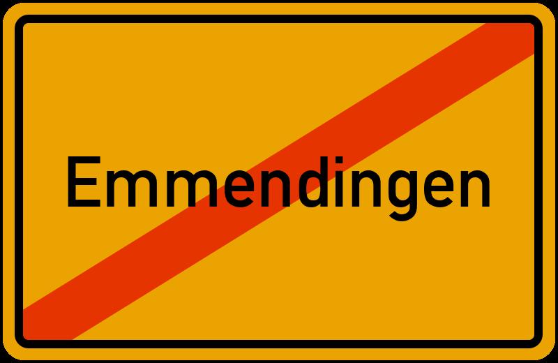 Ortsschild Emmendingen
