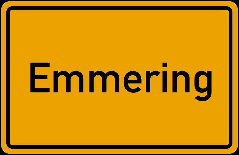 Ortsschild Emmering
