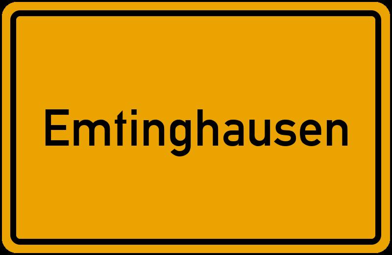 Ortsschild Emtinghausen