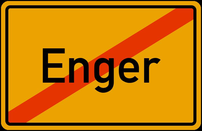 Ortsschild Enger