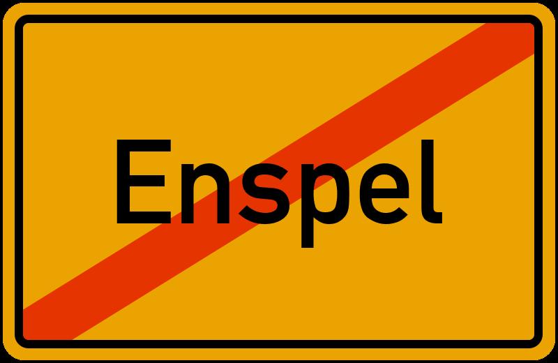 Ortsschild Enspel