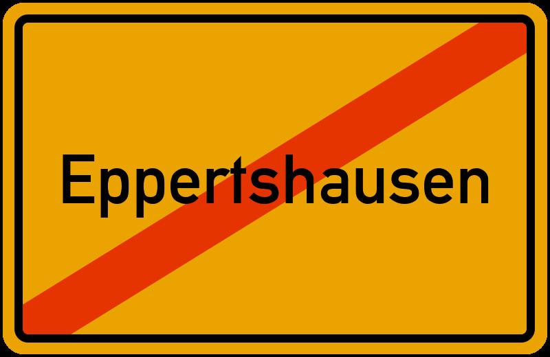 Ortsschild Eppertshausen
