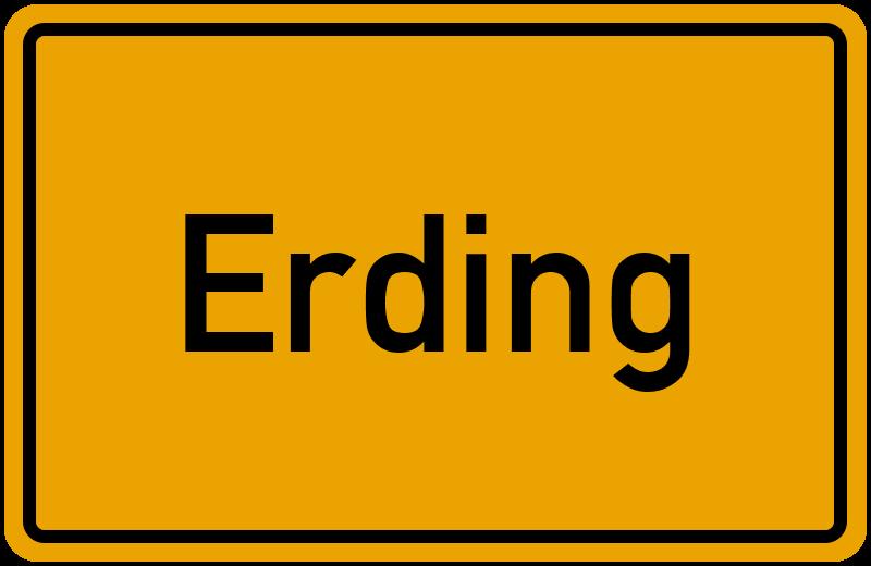 Ortsschild Erding