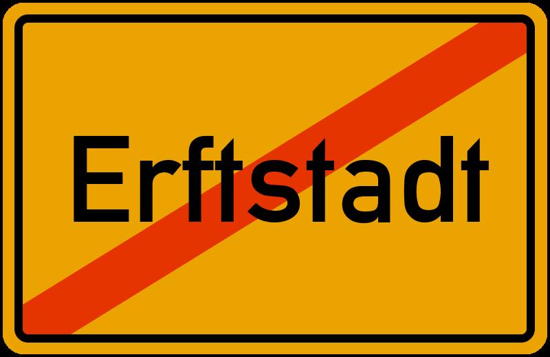 Ortsschild Erftstadt