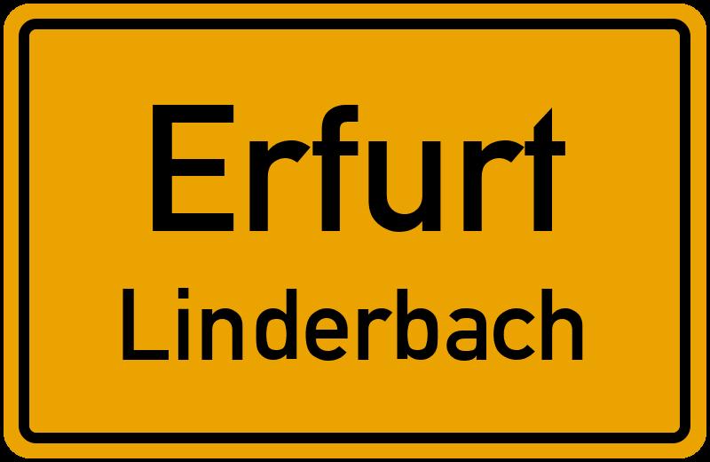 Ortsschild Erfurt