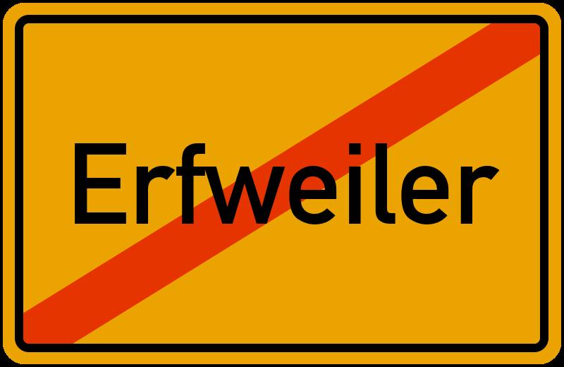 Ortsschild Erfweiler