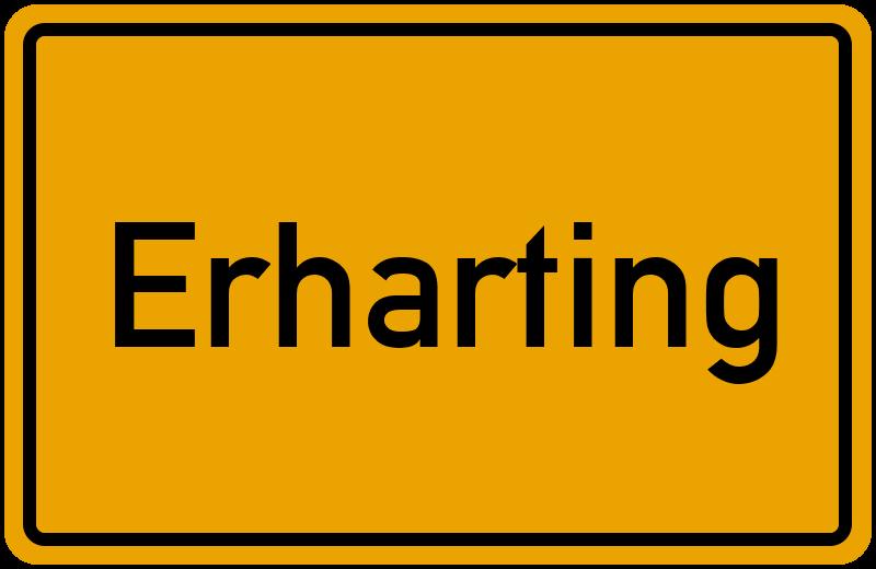 Ortsschild Erharting