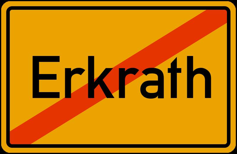 Ortsschild Erkrath