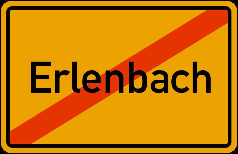 Ortsschild Erlenbach