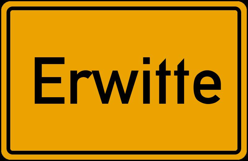 Ortsschild Erwitte