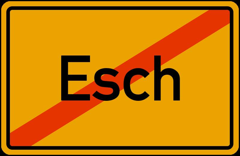 Ortsschild Esch
