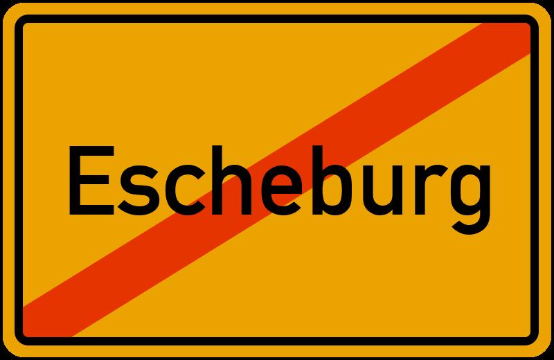 Ortsschild Escheburg