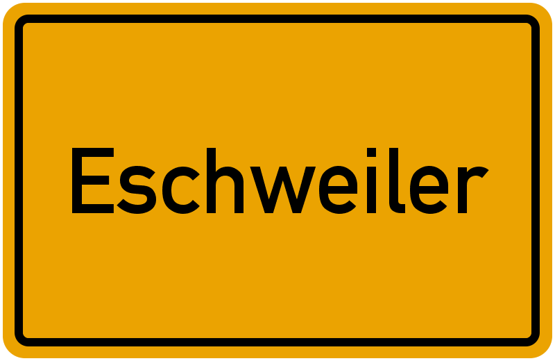 Ortsschild Eschweiler