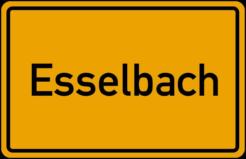 Ortsschild Esselbach