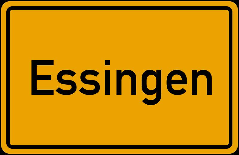 Ortsschild Essingen