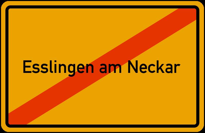 Ortsschild Esslingen am Neckar