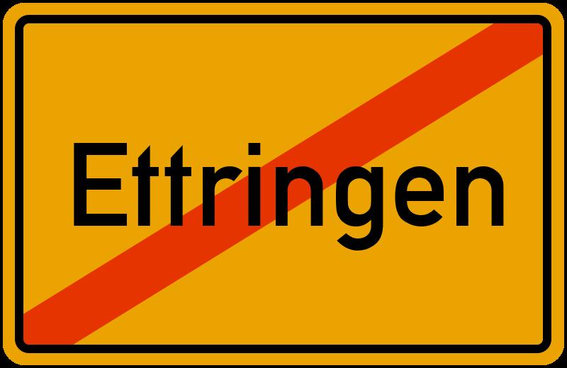 Ortsschild Ettringen