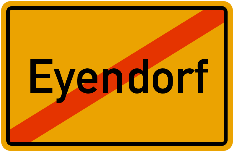 Ortsschild Eyendorf