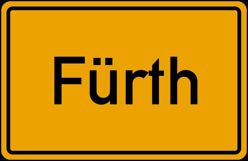 Ortsschild Fürth