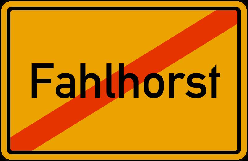 Ortsschild Fahlhorst