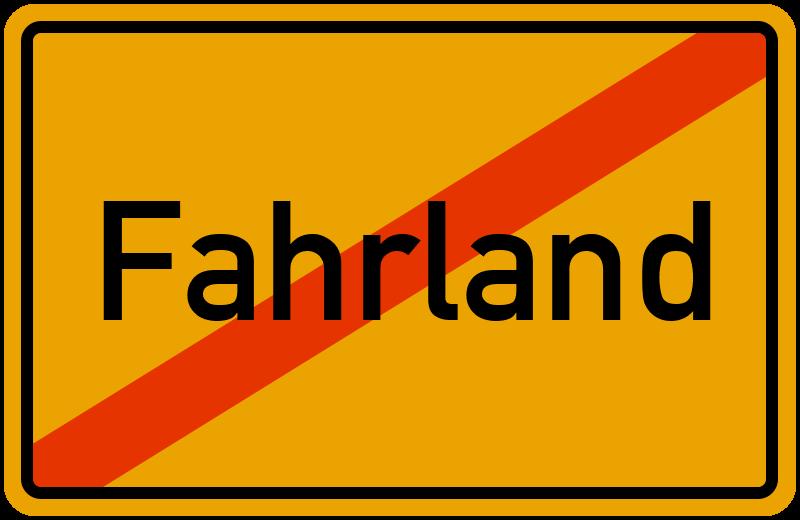 Ortsschild Fahrland