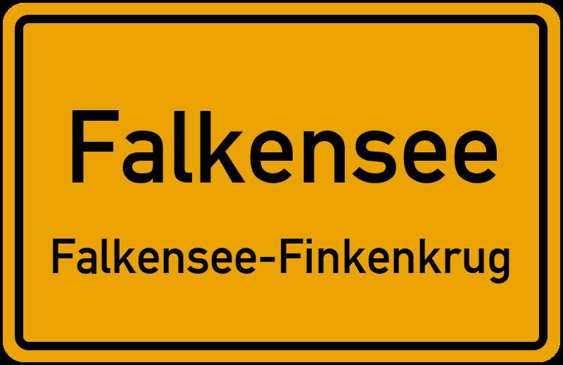 Ortsschild Falkensee Falkensee Finkenkrug Kostenlos