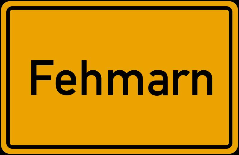 Ortsschild Fehmarn