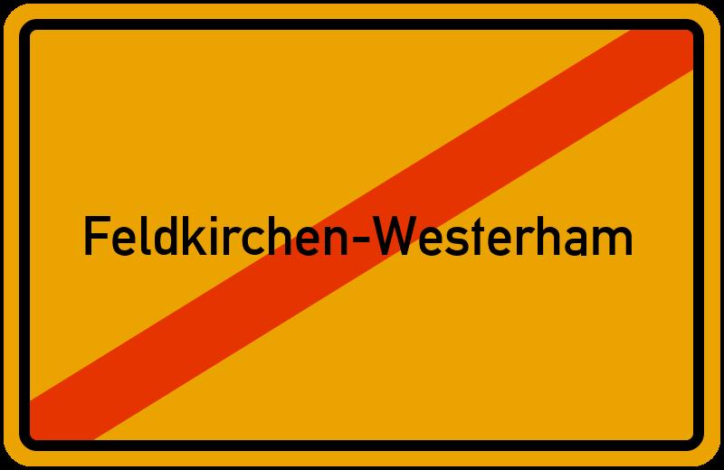 Ortsschild Feldkirchen-Westerham