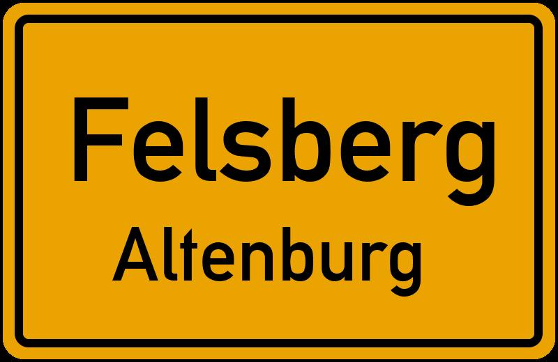 Ortsschild Felsberg