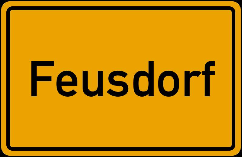 Ortsschild Feusdorf
