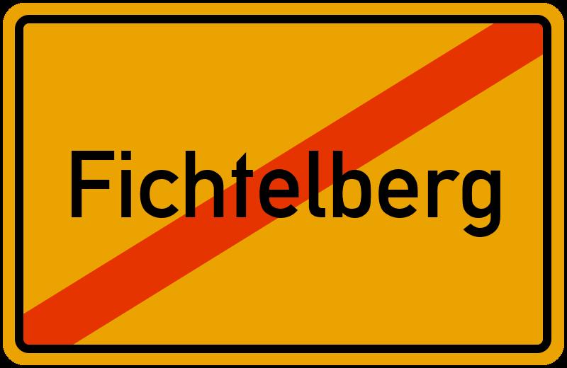 Ortsschild Fichtelberg
