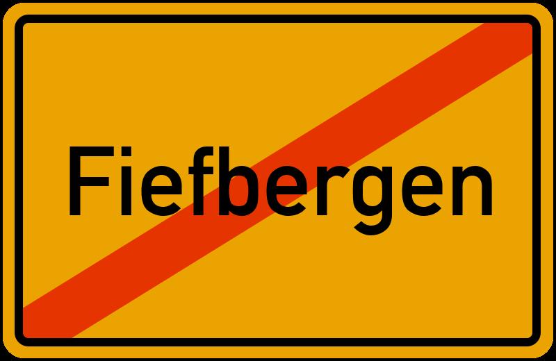 Ortsschild Fiefbergen