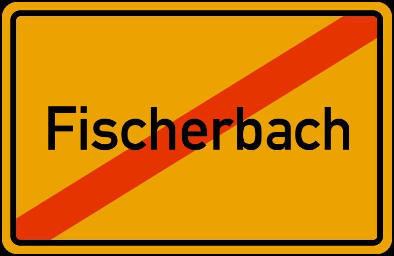 Ortsschild Fischerbach