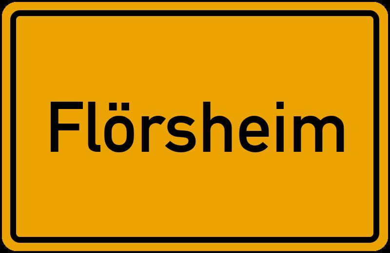 Ortsschild Flörsheim