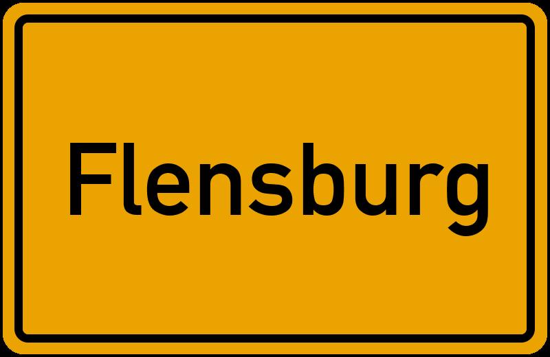 Ortsschild Flensburg