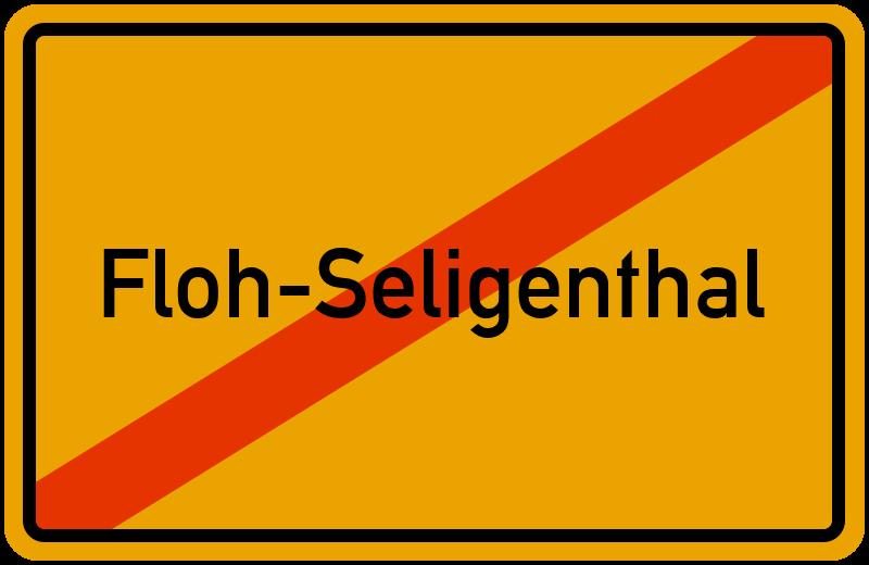 Ortsschild Floh-Seligenthal